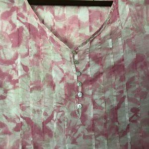 Darling cool pink J. Jill blouse size L